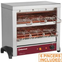 Toaster 6 pinces au quartz
