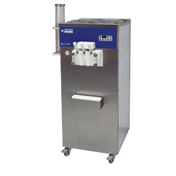 photo Machine pour soft ice-cream, 2 parfums et panaché 30 kg/h, condenseur air monophasé