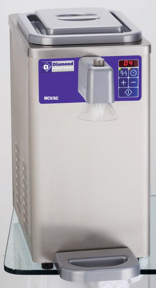 photo Machine réfrigéré chantilly inox cuve 6 litres