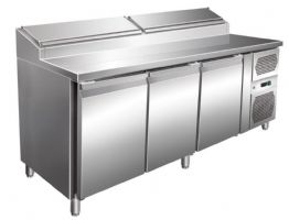 Table a sandwiches refrigeree +2/+8°c 3 portes gn 1/1 417l