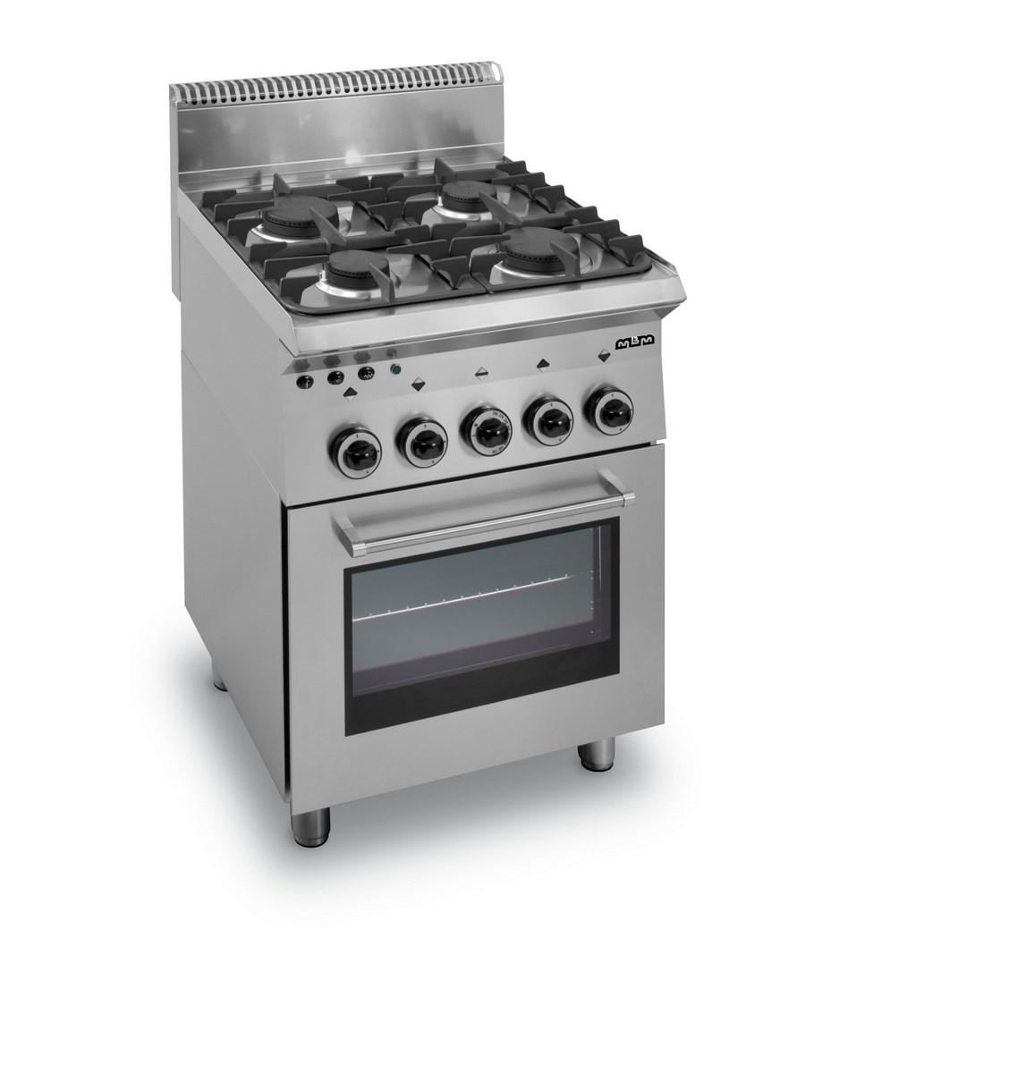 haute couture b629b 4a8d3 Feux vifs cuisiniere 4 feux sur four a gaz avec grill electrique
