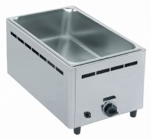 Bain-marie gaz de table, 1 cuve gn h=150 mm