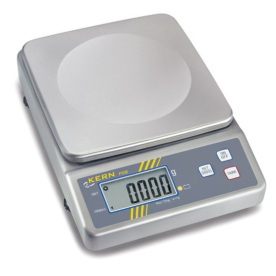 photo Balance de table en acier inox, charge utile maximum 30 kg, lecture 2 g