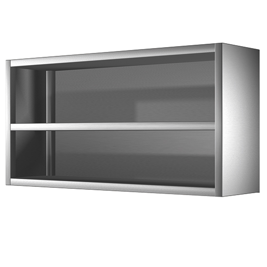 photo Armoire inox murale ouvert, 1400x400 mm